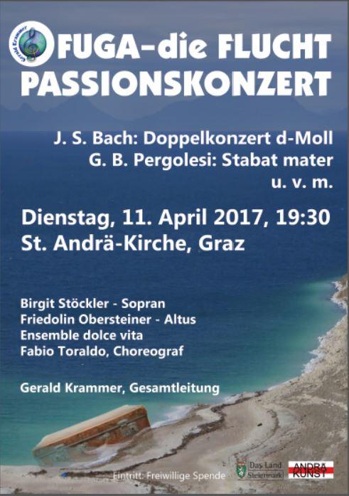 Fuga. Passionskonzert in Graz. Gerald Krammer mit dolce vita