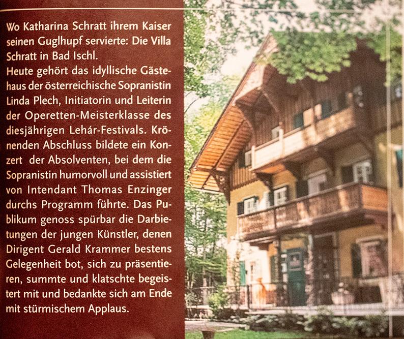 Abschlusskonzert der Meisterklasse in der Villa Schratt